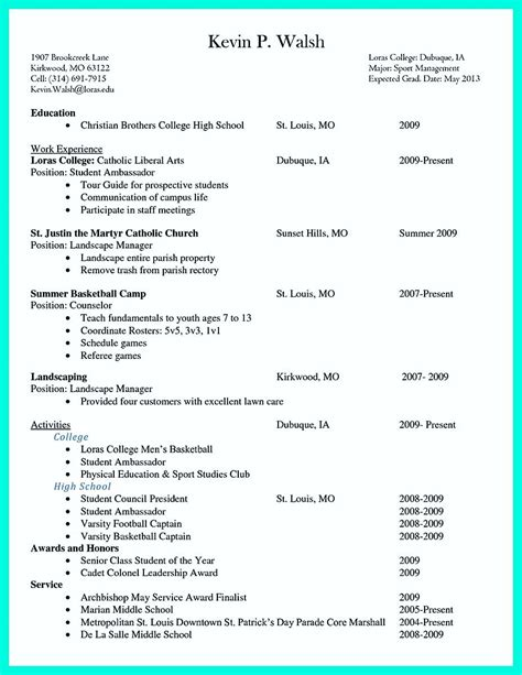 Resume Builders In College by Pin On Resume Template Resume College Student Resume