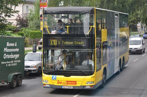 X10 Bus B V 3489 Auf Der Linie X10 Nach Teltow Aufgenommen Im