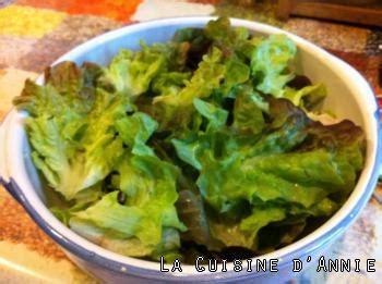 cuisiner la salade verte recette salade verte la cuisine familiale un plat une