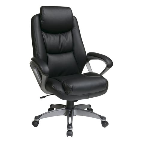 office and desk chairs shop office star worksmart ech black titanium transitional