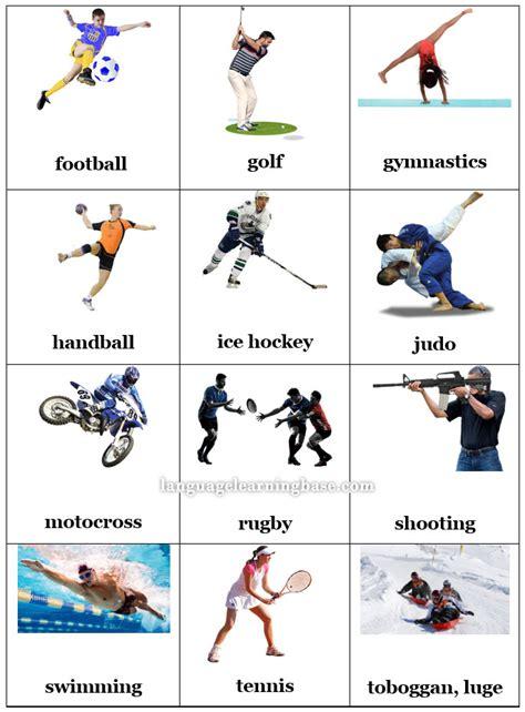 English Sports Flashcards  Learn English,flashcards,vocabulary,sports,english