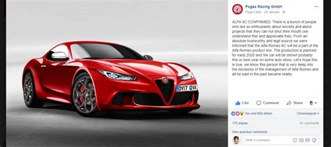 2020 Alfa Romeo 6c (tipo 963) Reportedly Confirmed For