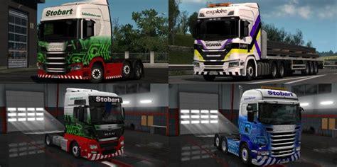 ets stobart group truck skins   simulator