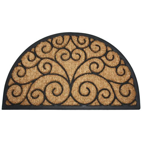 coir and rubber doormat j m home fashions orleans half coir and