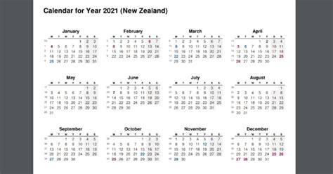 This page contains a national calendar of all 2021 public holidays. 2021 Full Year Calendar with New Zealand Holidays - 2021 ...