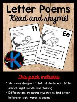 letter alphabet poems  letters   great  early
