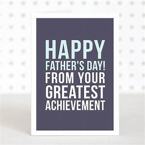 'greatest achievement' funny father's day card by ...