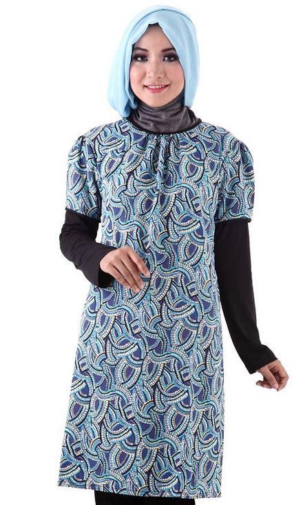 aneka contoh model baju batik muslim design gambar terbaru