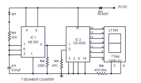 Segment Counter Circuit Electronic Diagram