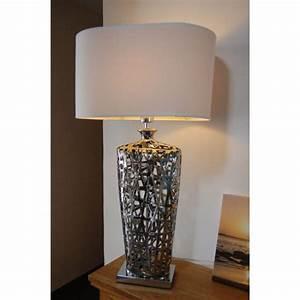 lampe de salon chromee queens millumine With meuble pour lampe de salon