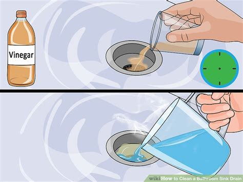 how to clean your kitchen sink drain 3 ways to clean a bathroom sink drain wikihow 9365