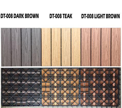 11 x wpc wooden plastic composite interlock decking floor