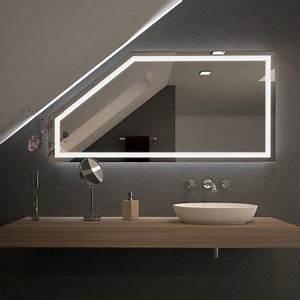 Beleuchtung Für Spiegel : spiegel f r dachschr gen mit led beleuchtung fiola 989707058 bad dachschr ge bad mit ~ Buech-reservation.com Haus und Dekorationen