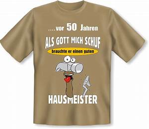 Geschenk Für 50 Geburtstag : lustiges t shirt 50 geburtstag f r hausmeister geschenk ~ Jslefanu.com Haus und Dekorationen