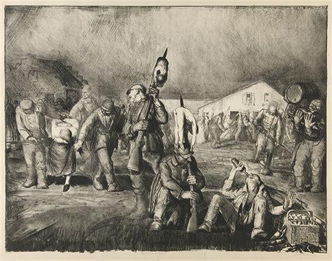 lithographs  george bellowss war series historynet