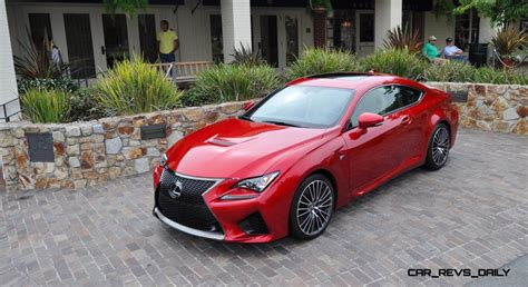 lexus cars red 2015 lexus rc f in red at pebble beach 84