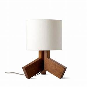 Rook Table Lamp - Walnut Table Lamp Blu Dot