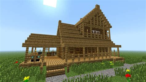 minecraft   build  wooden house  floor youtube