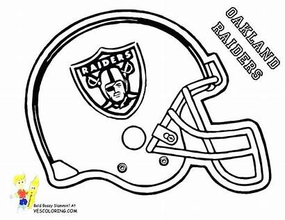 Coloring Football College Pages Helmet Team Nfl