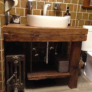 Hand Crafted Rustic Bath Vanity - Reclaimed Barnwood by