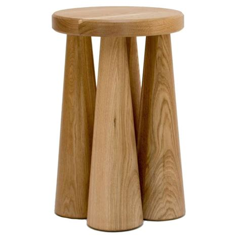 turned wood table l contemporary pillar side table in turned white oak for