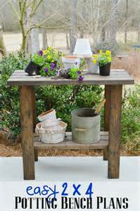 southern living plans potting bench plans refresh restyle