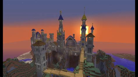 minecraft fantasy castle build timelapse youtube
