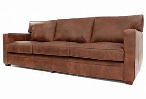 Whitechapel extra large vintage leather sofa bed from old for Wide sofa bed