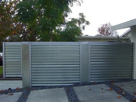 Corrugated Metal Decor by Corregated Steel Fence Modern Orange County By