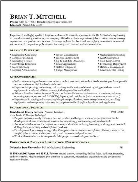 oil gas engineer resume sample resume examples