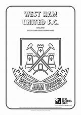 Coloring Ham Pages Soccer West Logos United Cool Clubs Manchester Football Teams Printable Drawing College Team Fc League Club Belgium sketch template