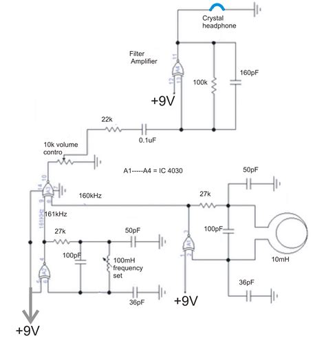 Simple Metal Detector Circuit Electricalcorecircuits