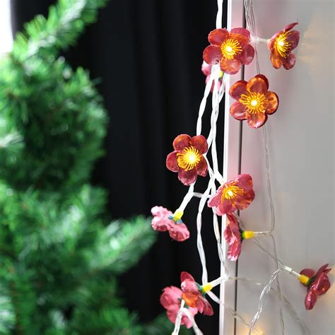 20 led cherry flower warm white string light indoor