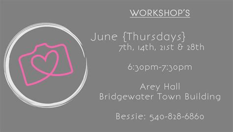 Love {and Learn} Your Camera Workshops {bridgewater