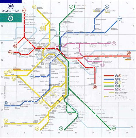 Carte Metro Rer by Rer Voyages Cartes