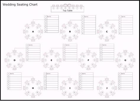 Wedding Seating Chart Template Free Table Of Reception Wedding Seating Chart Template