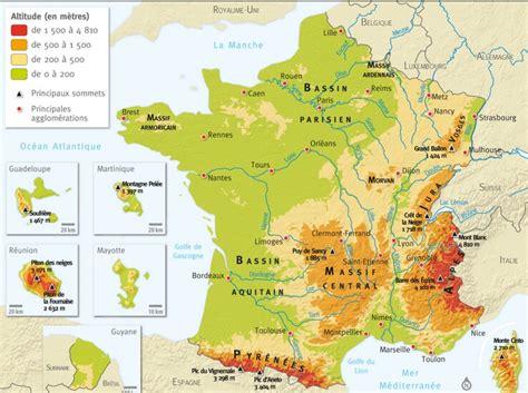 Carte De La Vierge Avec Les Massifs Montagneux by Carte Du Relieg Montagneux Voyages Cartes