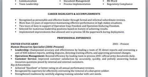 Translate Experience To Civilian Resume by Professionally Written Resume To Civilian Sle And Writing Guide Page 1 Resume