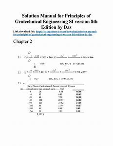 Solution Manual For Principles Of Geotechnical Engineering