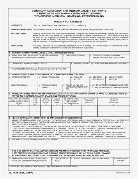 veterinary health certificate template