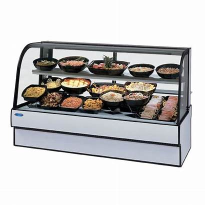 Deli Case Refrigerated Curved Federal Glass Display