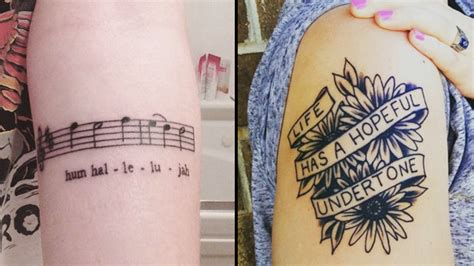 stunning lyric tattoos    running