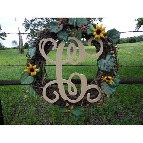 wooden monogram vine letter  unfinished craft letter paintable diy walmartcom walmartcom