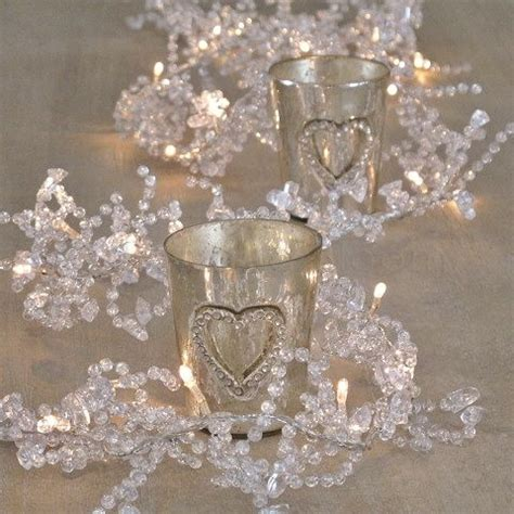 clear crystal led light garland 1 8m sparkly led light garland bliss and bloom ltd
