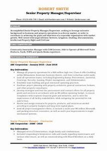General Resume Objectives Senior Property Manager Resume Samples Qwikresume