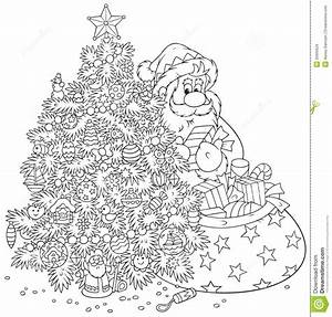 Santa Claus And Christmas Tree Royalty Free Stock Images ...