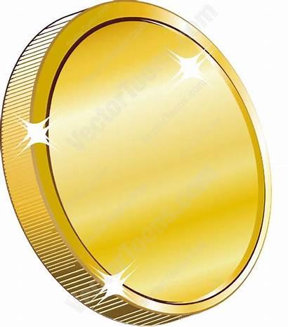 Coin Coins Gold Cartoon Clipart Vector Money