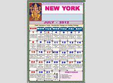 Newyork Telugu Calendar 2012