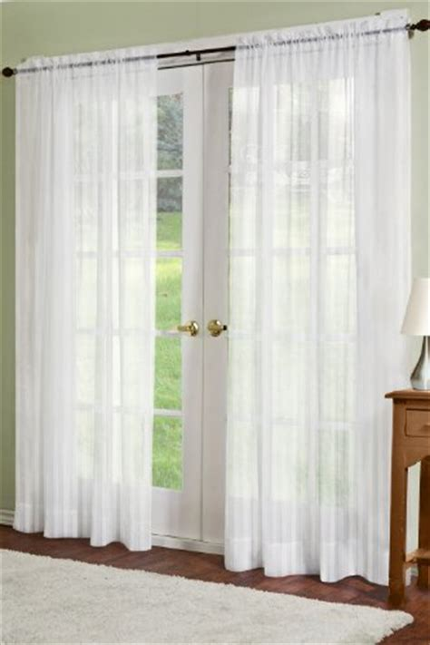 sheer curtain panels cheap cheap residence linen sheer look collection curtain