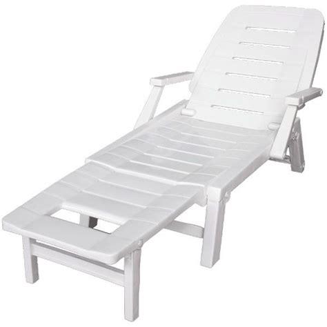 chaise bureau blanc transat blanc multipositions en résine trigano store
